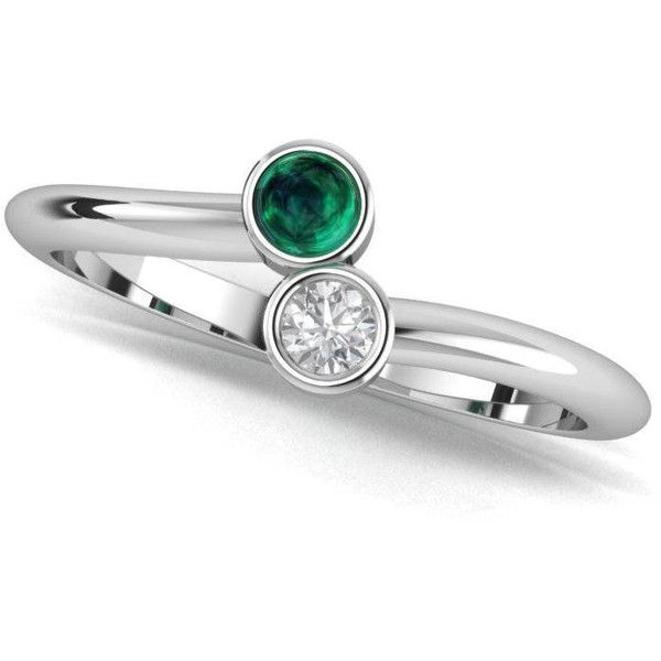 Emerald and diamond ring. Emerald engagement ring. Diamond ring, ($1,210) ❤ liked on Polyvore featuring jewelry, rings, green emerald ring, emerald jewellery, green jewellery, emerald ring and emerald jewelry