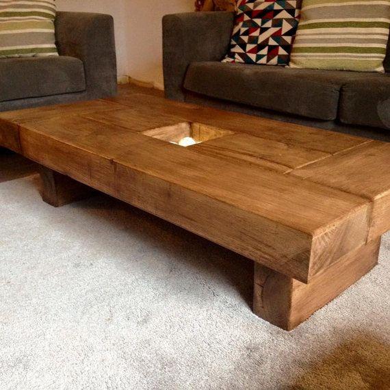 Oak coffee table dark wood coffee table coffee table by Fretwells