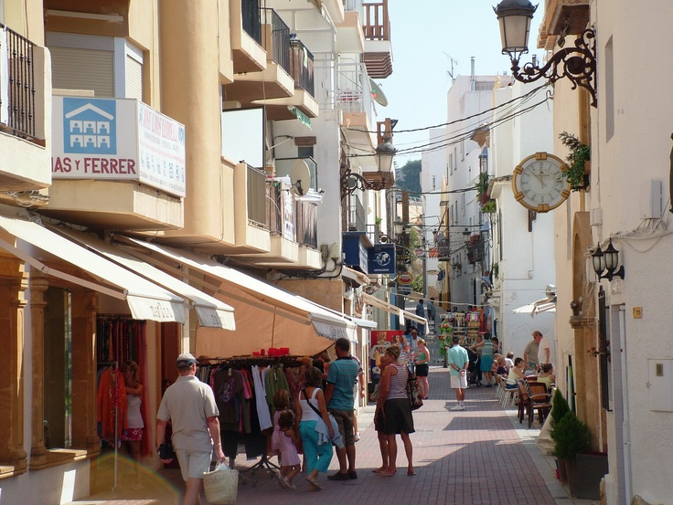 The streets in Moraira, Spain