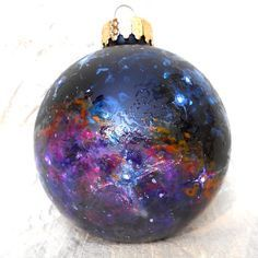 nebula ornament outer space christmas tree glass by idea for a tree theme