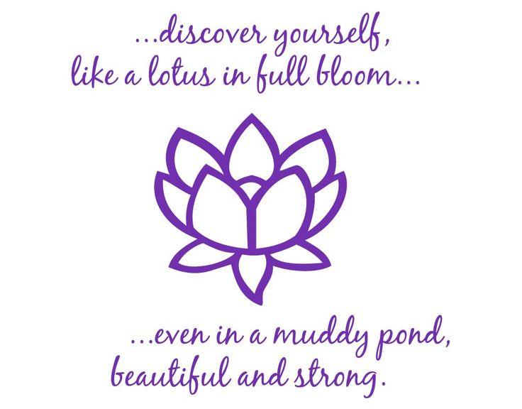 LOVE IT!!!   WANT!  ON SALE Beautiful Lotus Flower 2 Vinyl Wall Art by WallStickums, $32.00