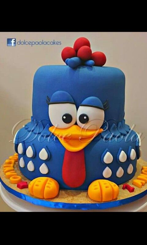 Cake gallinita azul