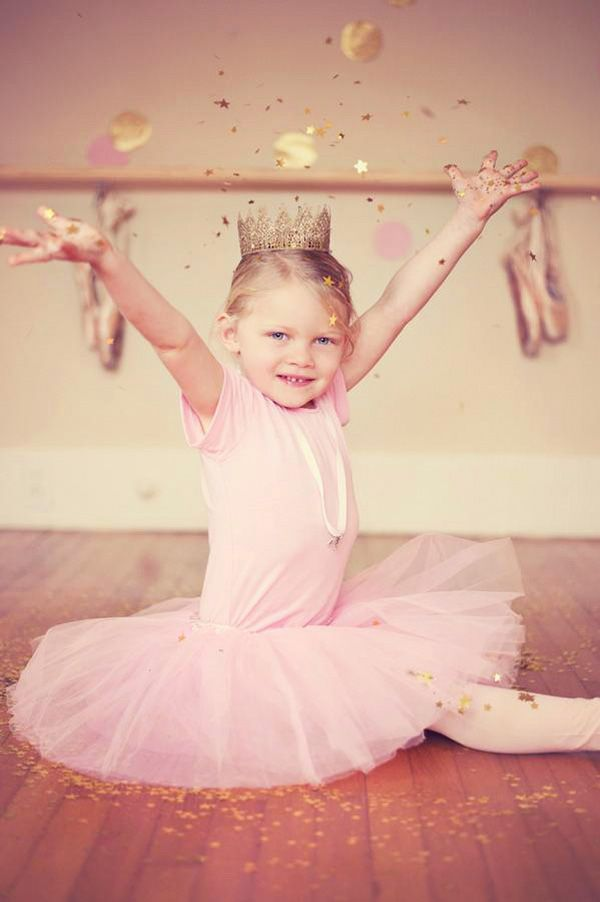 {Gorgeous!} Sparkly Pink & Gold Ballerina!
