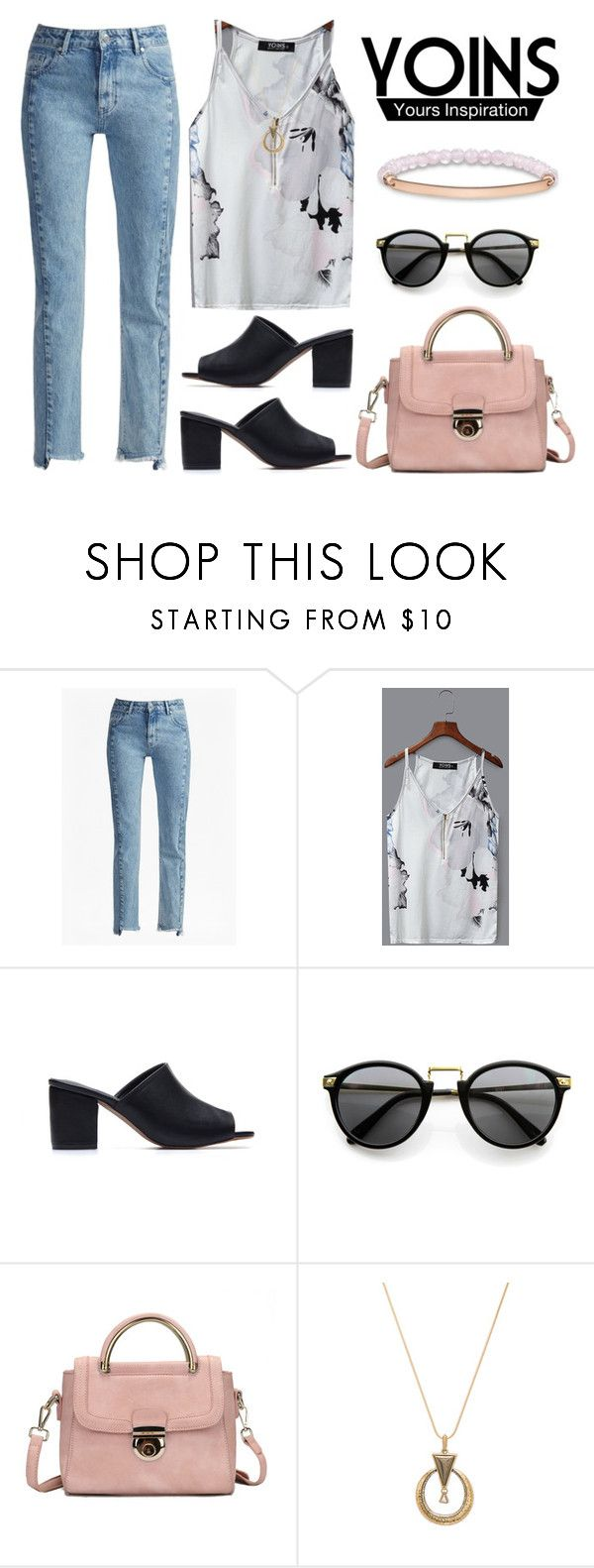 """Tank"" by indirareeves on Polyvore featuring French Connection, House of Harlow 1960 and Thomas Sabo"