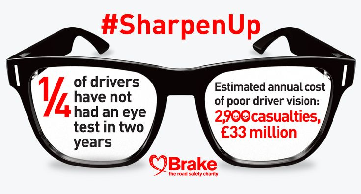 You must wear glasses or contact lenses every time you drive if you need them to meet the 'standards of vision for driving'. You must tell DVLA if you've got any problem with your eyesight that affects both of your eyes, or the remaining eye if you only have one eye: https://goo.gl/Va1Uhb