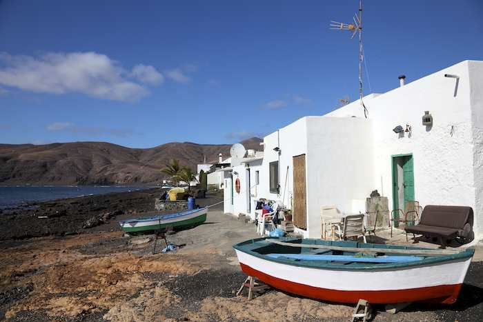 Sleepy little fishing ports dot the island #Lanzarote #fishing