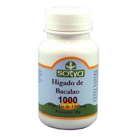 Aceite de hígado de bacalao - Sotya.  Es una fuente natural de nutrientes excelente, y su consumo aporta beneficios importantísimos para el buen funcionamiento de los sistemas circulatorio, óseo, nervioso o inmunológico, entre otros.