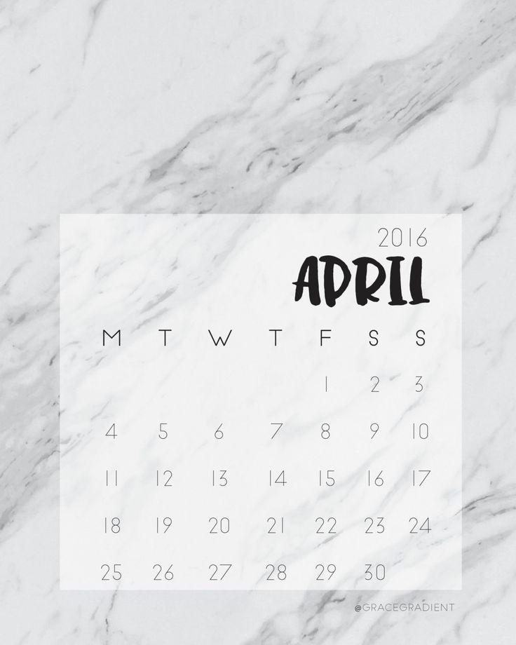 Marble Desktop Wallpaper Calendar : April calendar printable marble print a