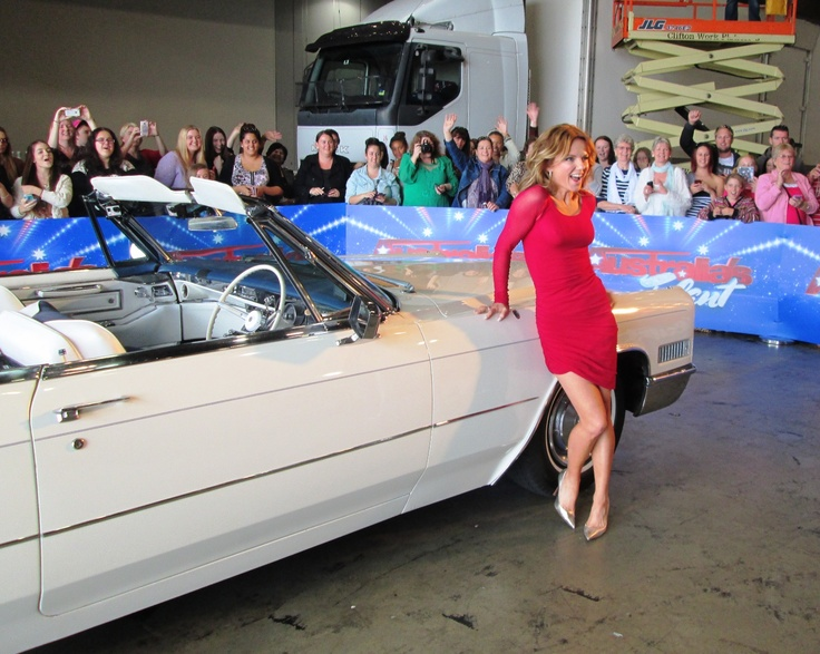 Geri Halliwell with the Cadillac