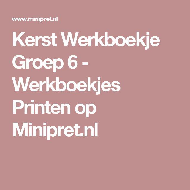 Kerst Werkboekje Groep 6 - Werkboekjes Printen op Minipret.nl