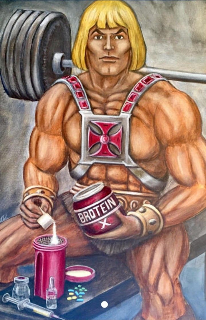 He-man | Gym memes funny, Classic cartoon characters, 80s cartoon shows