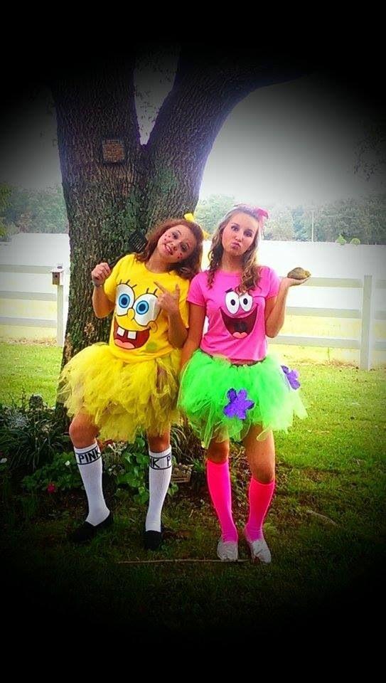 Spongebob and Patrick Costumes!Make your own tutu! #diy