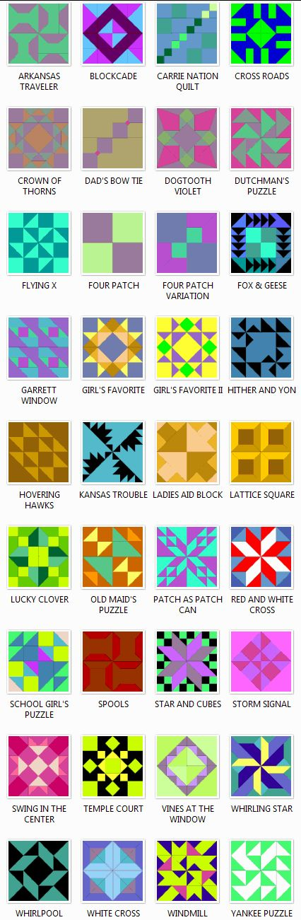 Free patterns by Blockcrazy.com.... fine print...What Does it Cost?  Total access to the Blockcrazy Library of over 550 quilt block patterns is $24.99!  That price is not a yearly subscription price, it is a one time payment.  Some of our quilt block patterns are sold separately in individual collections.  View those collections here.