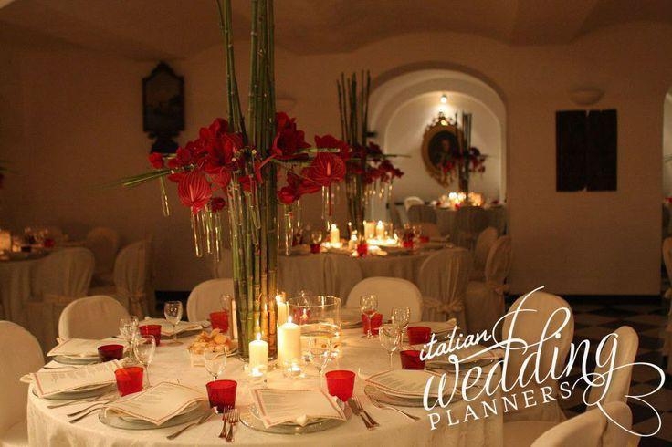 Ligurian style indoor hall for your Italian wedding