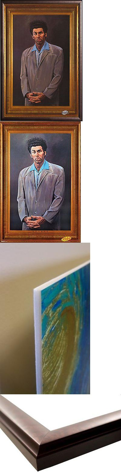 Arts And Crafts: Framed Kramer Portrait 24X36 Poster In Rust Finish Wood Frame Portrait Art Print BUY IT NOW ONLY: $103.63