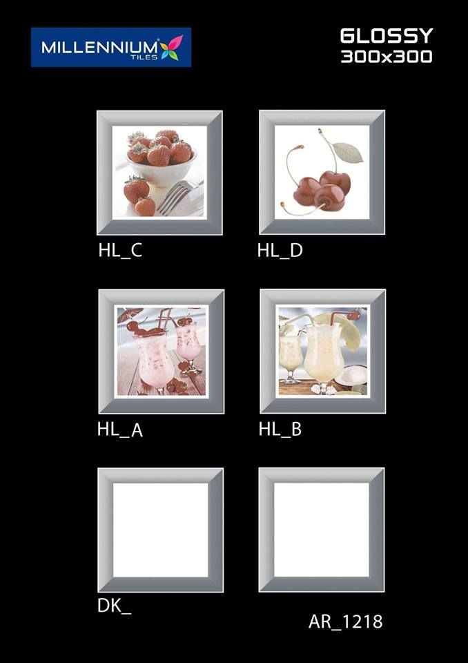 AR_1218 - Millennium Tiles 300x300mm (12x12) Digital Ceramic Glossy #wallart #tiles   - LT_   - HL_A   - HL_B   - DK_   - #3D Technology: Our physical environment is three-dimensional and we see the world in a 3D way, you will have a feeling of depth with our 3D visual experience.  - HD Technology: High-definition technology (HDT) provides a resolution that is substantially higher that of standard-definition tiles.