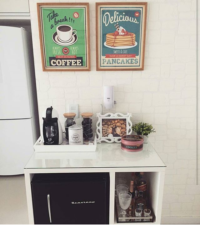 Inspiração :  Cantinho do café do instagram ↔ @apartamento905