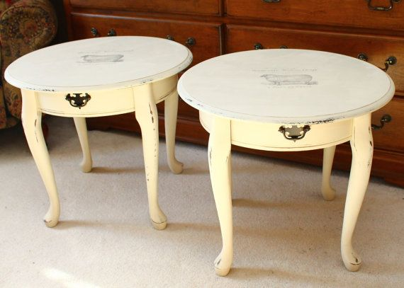 distressed set of 2 end table see them on etsy https lane