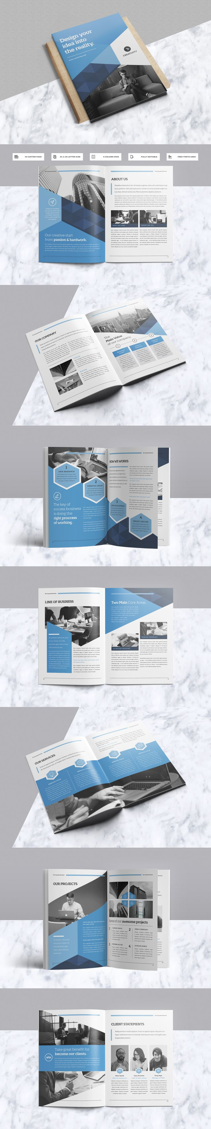 Modern & Professional Brochure Template InDesign INDD
