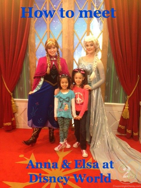 Wondering where to meet Anna and Elsa at Walt Disney World?  Check out where and what times here!
