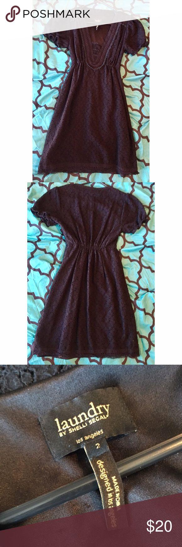 Laundry by shelli segal black dress Cute little black eyelet dress by Laundry by Shelli Segal size 2 Laundry by Shelli Segal Dresses