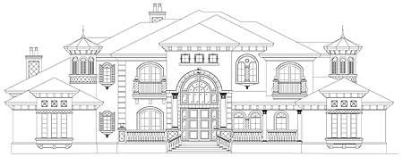 17 best exteriors for mini mansions images on pinterest for Mini mansion house plans