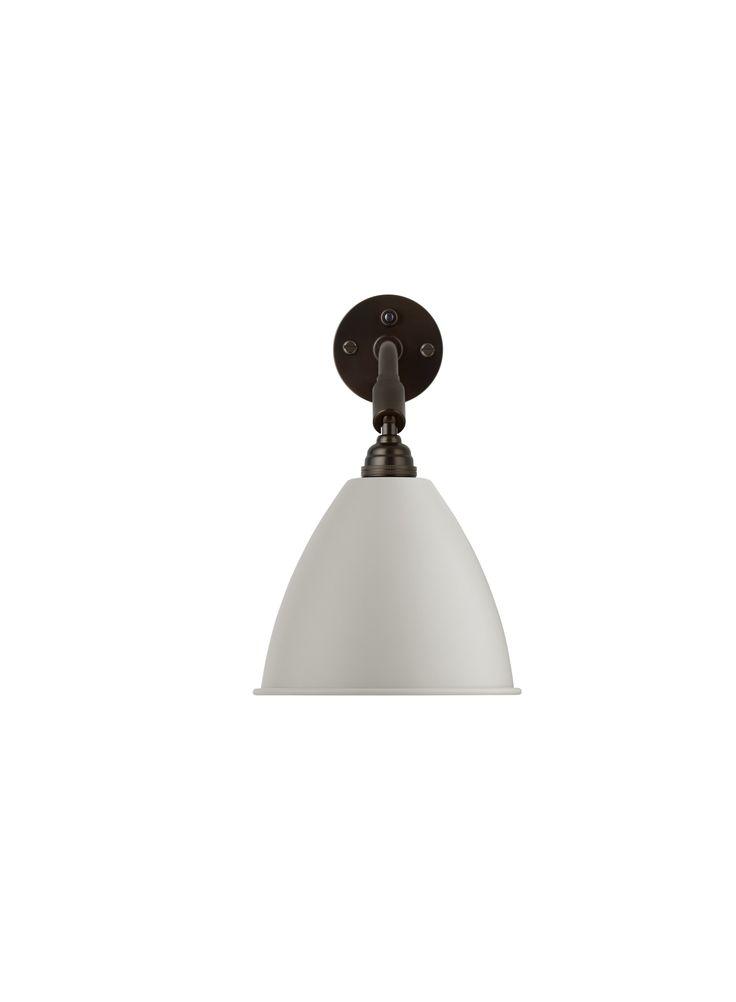 GUBI // Bestlite BL7 Wall Lamp in classic white/black brass