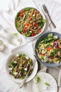 3 proste sałatki makaronowe do pracy /Chilli, Czosnek i Oliwa simple and healthy pasta salads