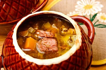 Beefy Russian Cabbage Soup, or Shchee/Shchi on http://www.theculinarylife.com