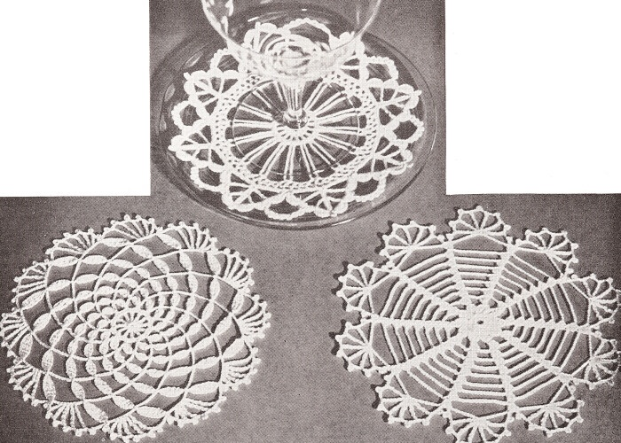 Nice Small Crochet Doily Pattern Component Easy Scarf Knitting