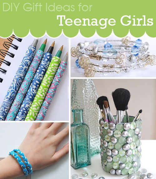 DIY gift ideas for teenage girls including jewelry, cool polymer clay pens and DIY memo board and more. Brought to you by Creative in Chicago http://www.creativeinchicago.com/2013/11/diy-gift-ideas-for-teenage-girls.html