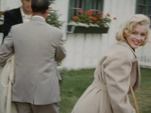 2 Very Rare Colour Home Movies Of Marilyn Monroe - On Crutches 1953 And Coming Home From Court 1956 - YouTube