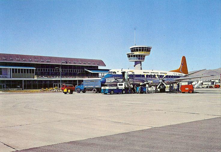 SAA Vickers Viscount at JG Strijdom airport in Windhoek - courtesy V5-LEO