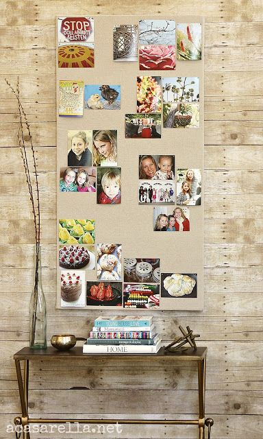 Create a linen covered pinboard. | 21 Pottery Barn Inspired DIYs