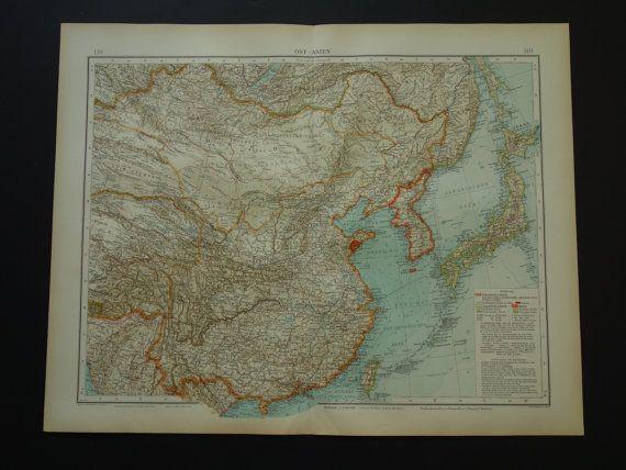 Best Antique Maps Of Japan Images On Pinterest Antique Maps - Jiaozhou city map