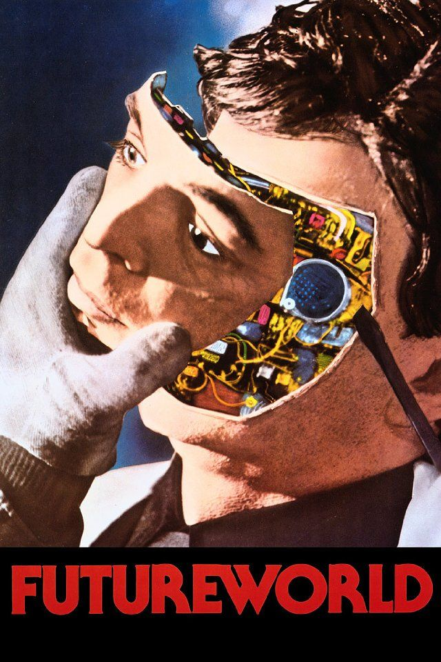 Futureworld, 1976., retro-futurism, 1970's, robot, android, cyborg head, retro-futuristic, 70's  This film and it's earlier sibling, WestWorld are two of my most favourite films ever. Watch them, you'll agree. Awesome.