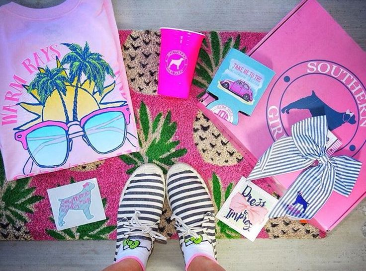 Southern Girl Prep Monthly Prep Subscription Box |  Planning your preppy style is easy when you get a monthly Prep Subscription Box from Southern Girl Prep. Just ask @katelynchef!