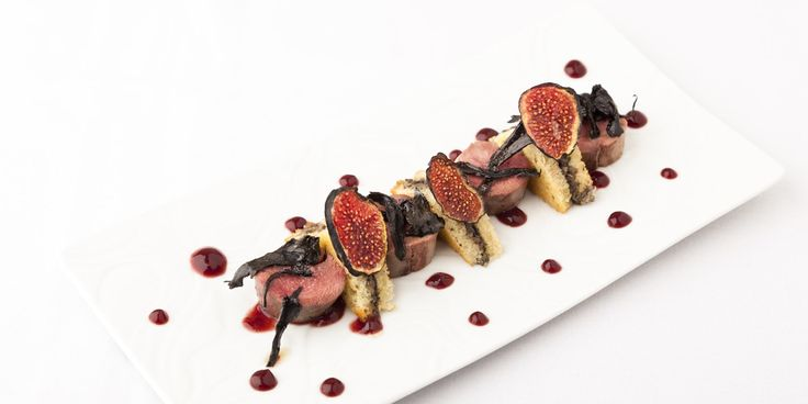 Grouse is prepared two ways as a paté and poached in this grouse recipe from Kevin Mangeolles. The grouse pairs well with the sweetness of figs and the brioche.