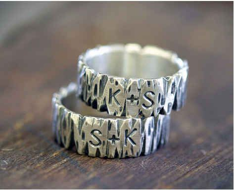 Customized Tree Bark Rings, $105 | 24 Matching Jewelry Pieces For You And The One You Love