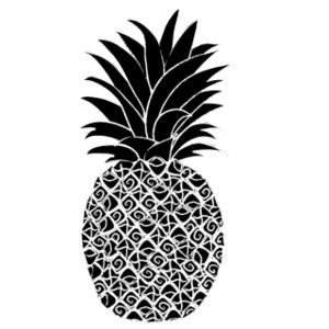 pineapple clipart. welcome pineapple clipart black and white free 2 - clipartix