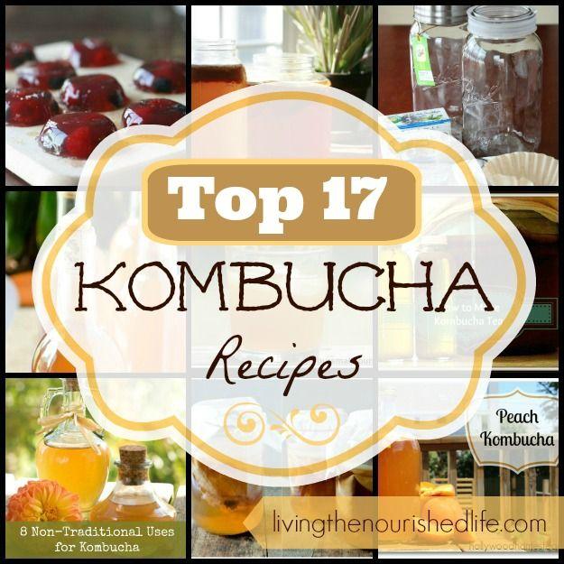 Top 17 Kombucha Recipes - The Nourished Life Kombucha jello, smoothie and other great recipies
