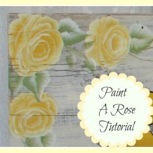 How to Paint a Yellow Rose one stroke at a time, FlowerPatchFarmhouse.com