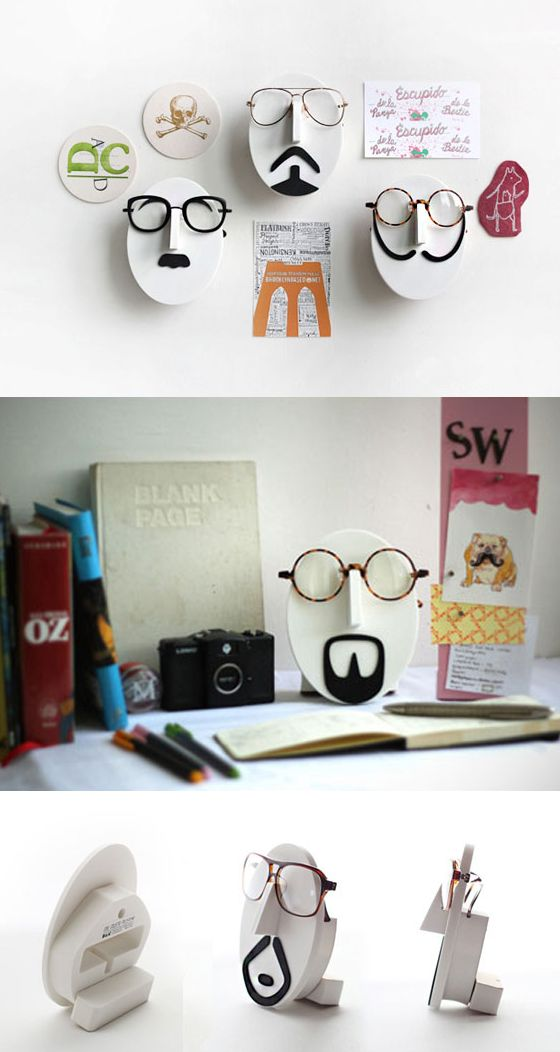 Looking for unique & fun decoration item? Here is Mustache Glasses Stand! You can choose your favorite mustache and use it as your glasses or sunglasses stand. You can paint or decorate this stand and make your own version!