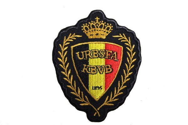 Belgium Football Fifa World Cup Embroidered Iron On Patch Crest Badge Fifa World Cup Belgium Iron On Patches