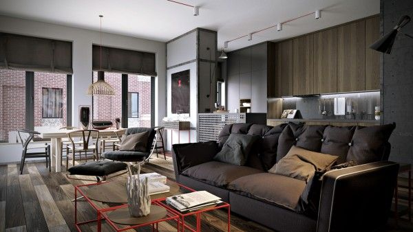... , it has a certain stylish bachelor pad appeal with a few industrial notes for good measure.