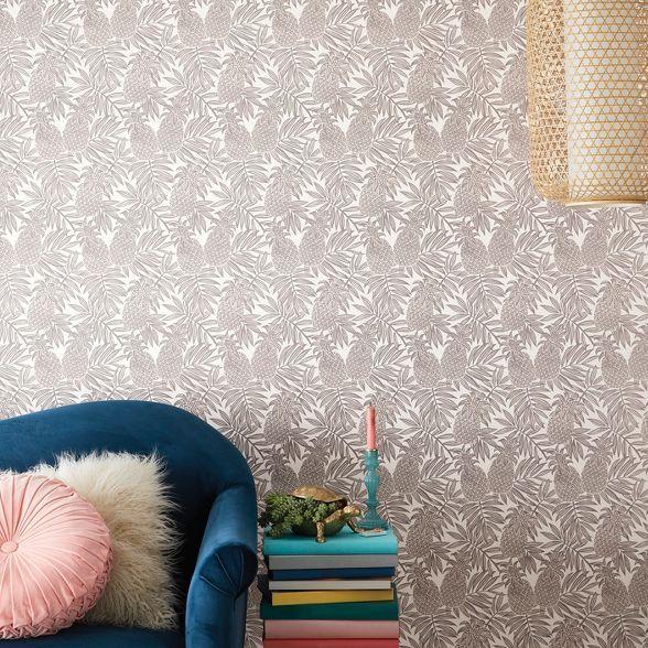 Pineapple Peel Stick Wallpaper Opalhouse In 2021 Removable Wallpaper Opalhouse Peel And Stick Wallpaper