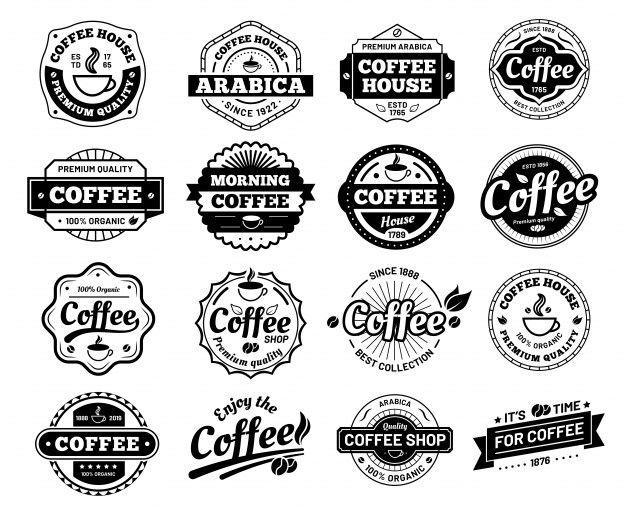 Coffee Badges Cafe Logo Stamp Sticker Premium Vector Freepik Vector Logo Vintage Coffee Border In 2020 Cafe Logo Cafe Logo Design Logo Design Coffee