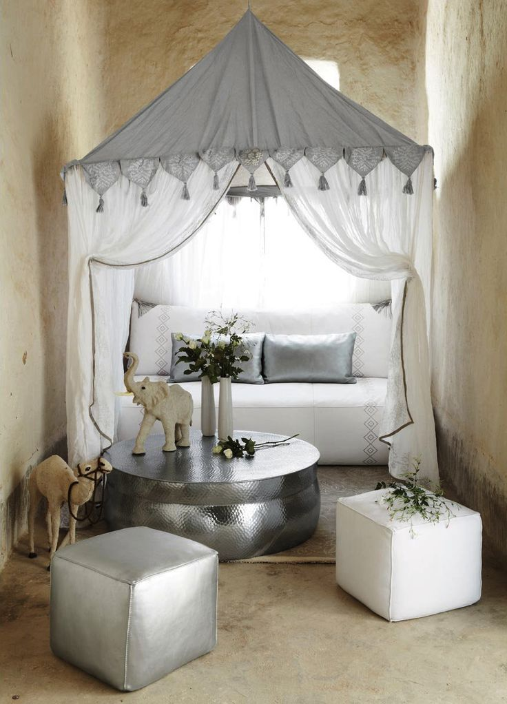 Indienne Decor. This is not in a garden...but oh how I can picture this in a beautiful garden