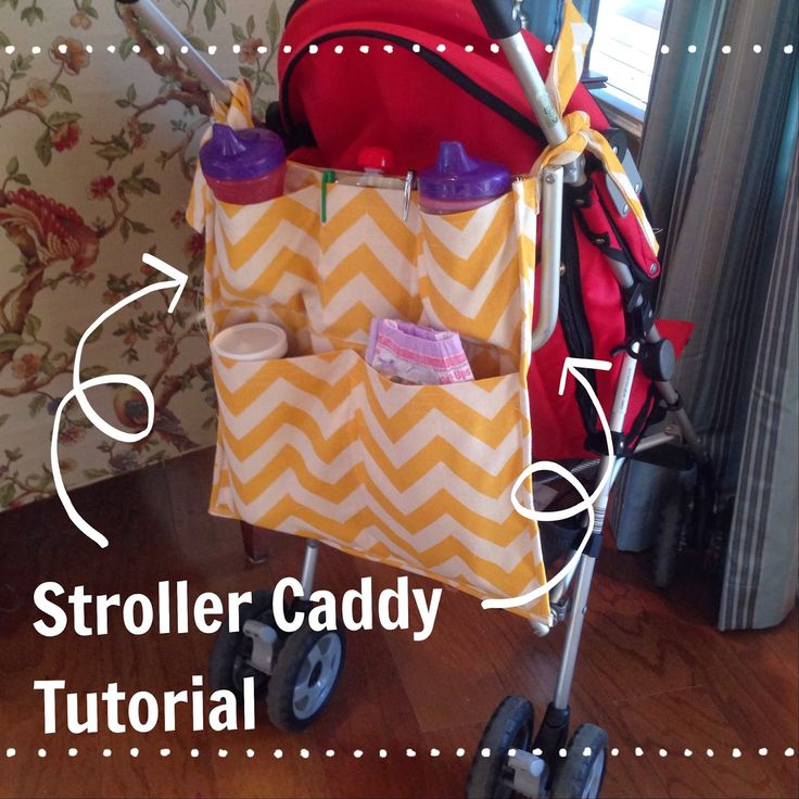 Staying Sane While Staying Home!: Stroller Caddy Organizer DIY