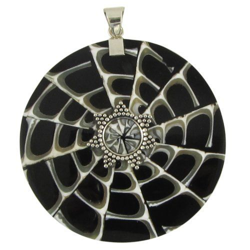 Tropical Mosaic Shell Sterling Silver Pendant Island Silversmith. $19.95. Free Gift Box. Free Shipping. Rich Black, White and Grey colorations. Beautiful Mosaic done in Shell. 100% Completely Hand-worked Sterling Silver. Save 43%!